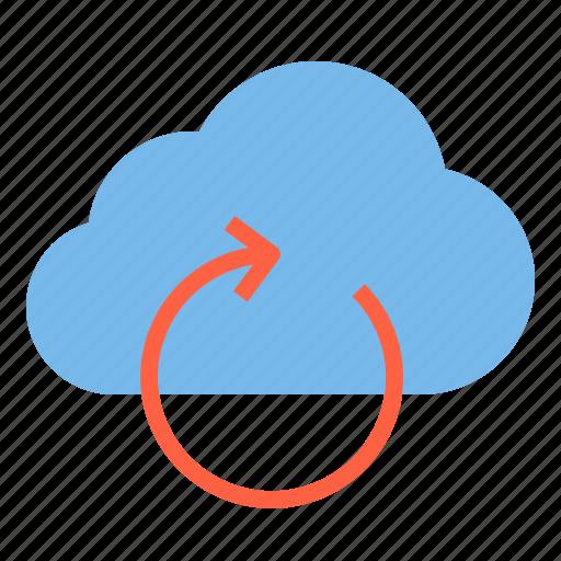 cloud, storage, technology, undo icon