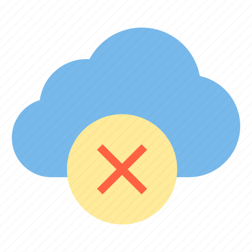 cloud, storage, technology, unsafe icon