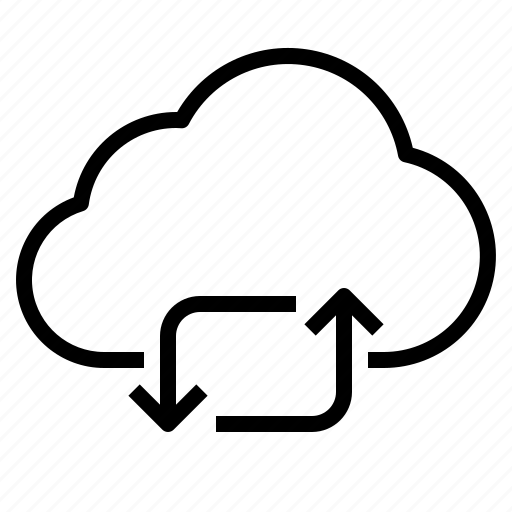 cloud, exchange, storage, technology icon
