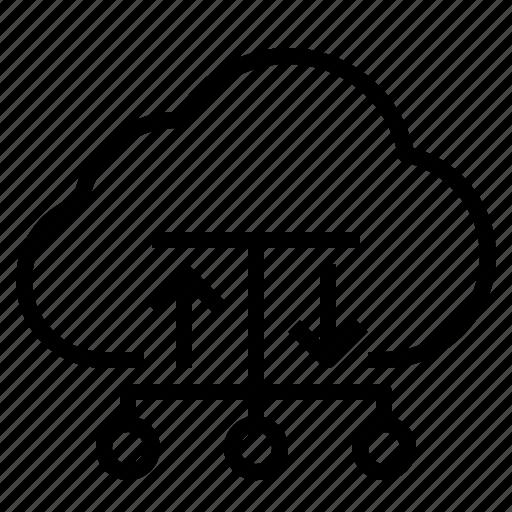 cloud, hosting, storage, technology icon