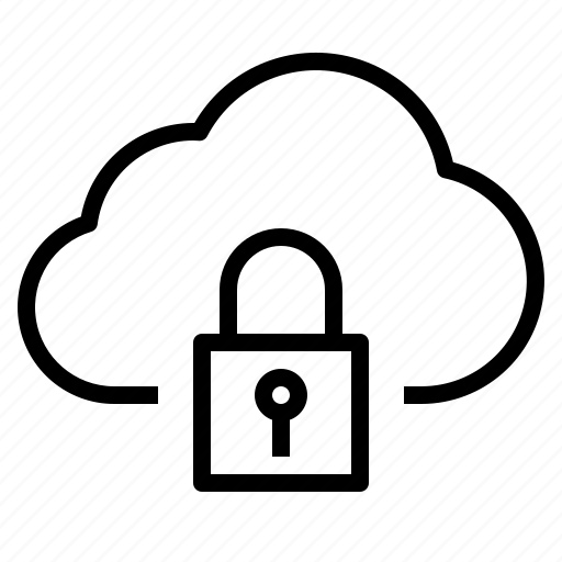 cloud, lock, security, storage, technology icon
