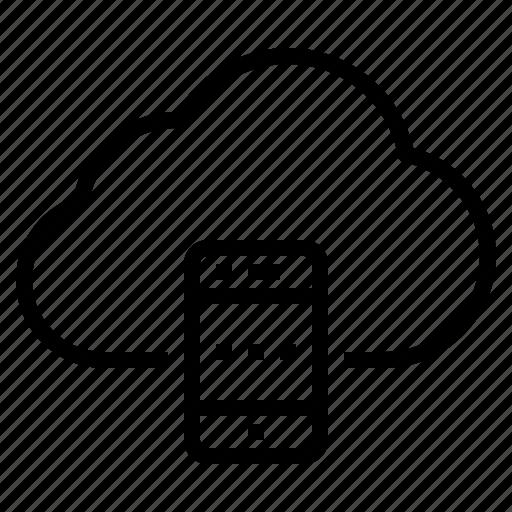 cloud, data, mobile, storage, technology icon