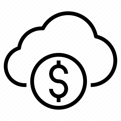 cloud, money, storage, technology icon