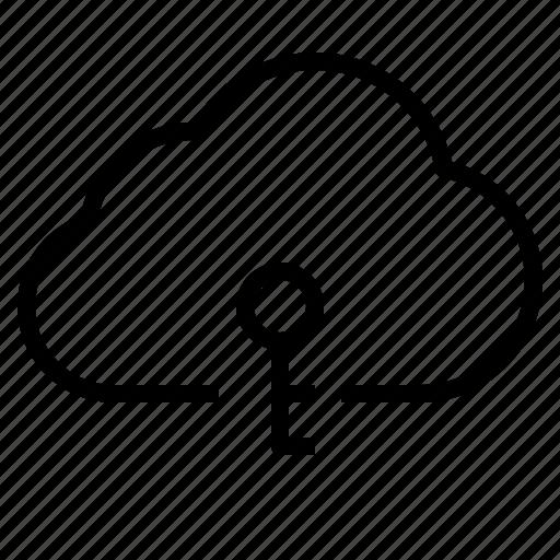 cloud, password, storage, technology icon
