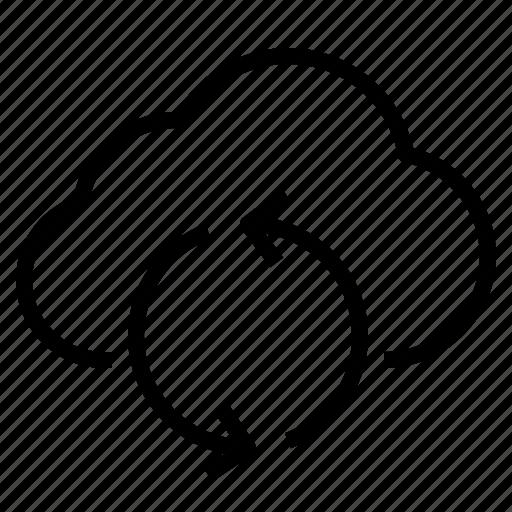 cloud, refresh, storage, technology icon