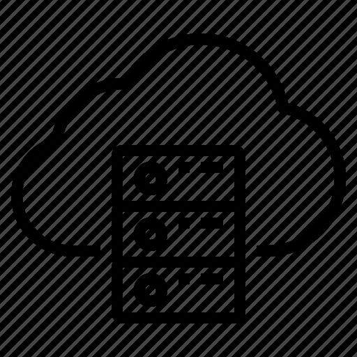 cloud, server, storage, technology icon