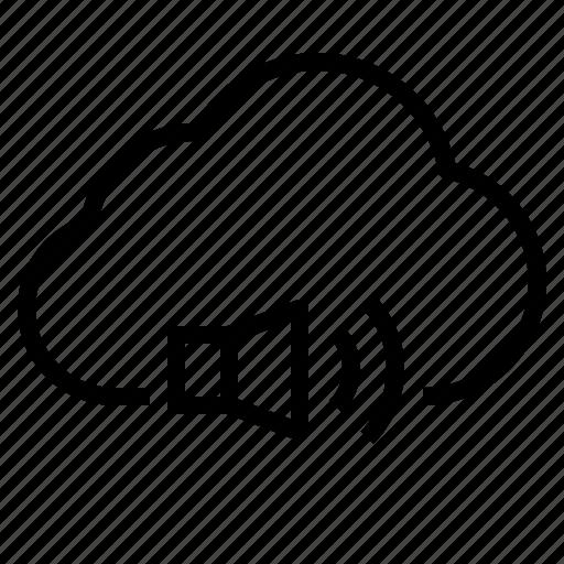 cloud, sound, storage, technology icon