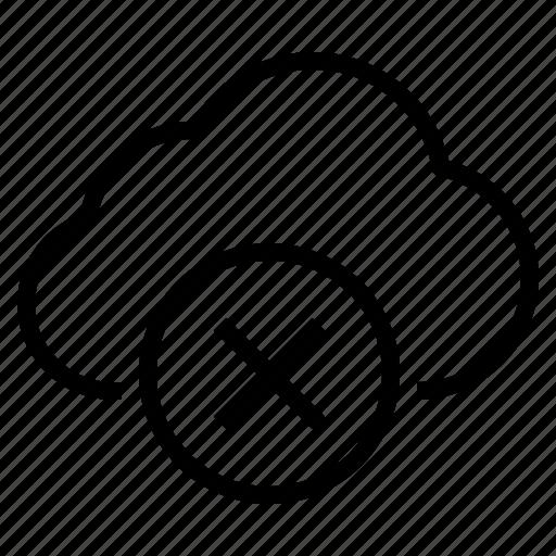cloud, storage, technology, unsafe icon