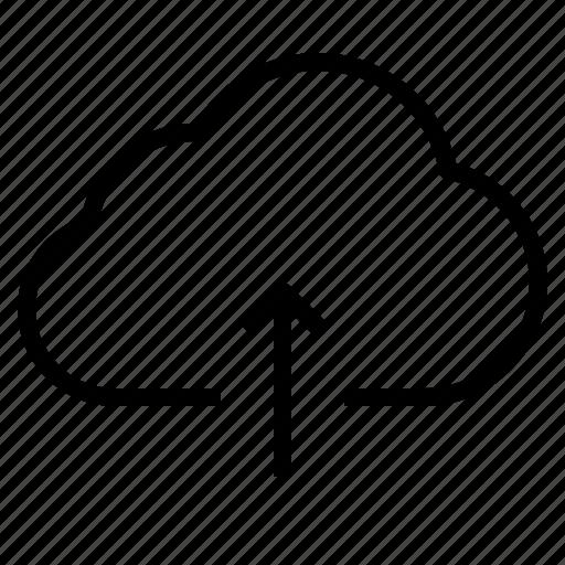 cloud, storage, technology, upload icon