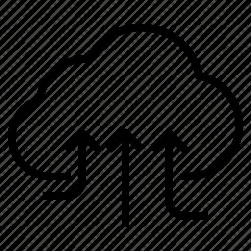 cloud, service, storage, technology, upload icon