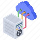 cloud hosting, cloud networking, cloud server, cloud technology, data processing icon