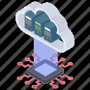 cloud computing, cloud hosting, cloud technology, digital technology, digital transformation icon