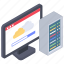 cloud app, data center, web hosting, web hosting server, web server icon