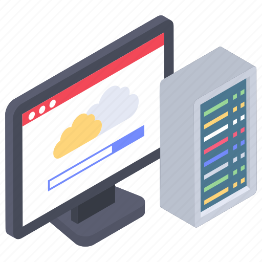 Cloud app, data center, web hosting, web hosting server, web server icon - Download on Iconfinder