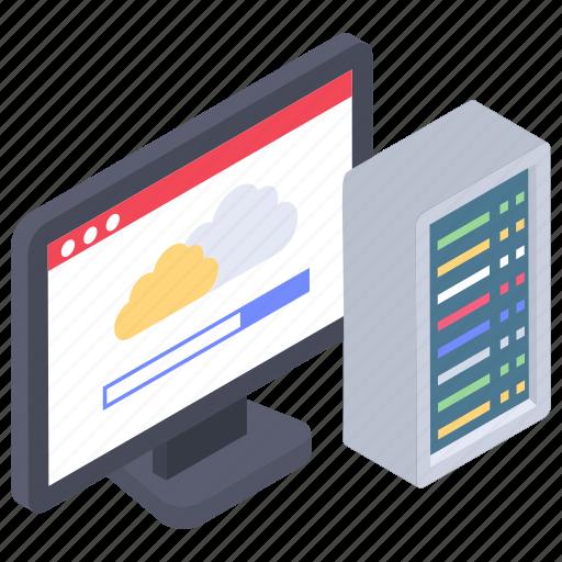 cloud app, data center, web hosting, web hosting server, web server icon