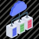 cloud computing, cloud hosting, cloud server, network hosting, server data icon