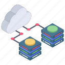 cloud data sharing, cloud data transfer, cloud hosting, cloud storage, data transmission icon