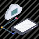 cloud app, cloud connectivity, cloud data transfer, cloud device, cloud technology icon