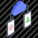 cloud connectivity, cloud data share, cloud data sync, cloud server, cloud technology icon