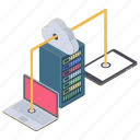 cloud data sharing, cloud server, cloud technology, file sharing, hosting server icon