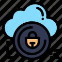 cloud, data, lock, private, secure
