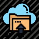 arrow, cloud, computing, up, upload icon