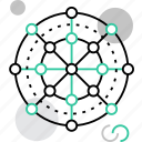 connection, connectivity, global, link, scheme, structure, system icon