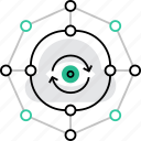 big, connection, data, information, network, sync, update icon