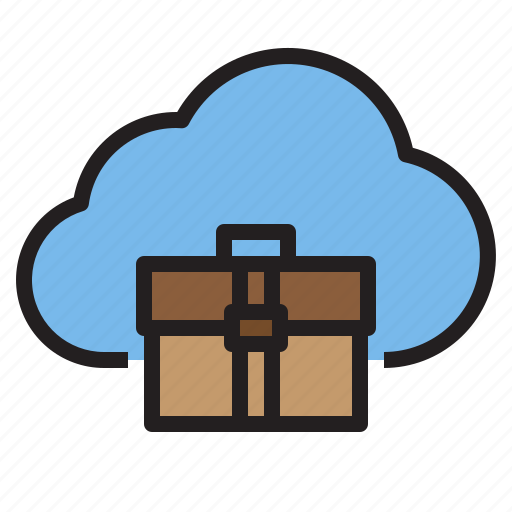bag, business, cloud, storage, technology icon
