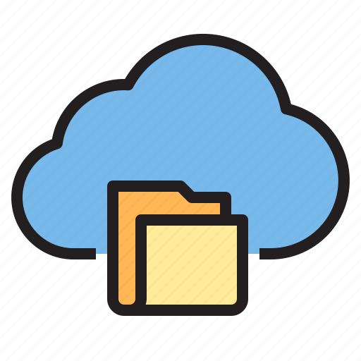 cloud, data, folder, storage, technology icon