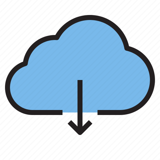 cloud, download, storage, technology icon