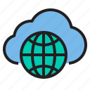 cloud, idea, light, storage, technology icon