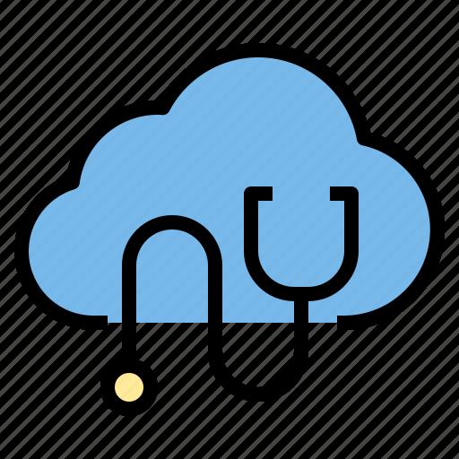 cloud, data, medical, storage, technology icon