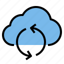 cloud, refresh, storage, technology icon