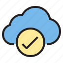 cloud, safe, storage, technology icon