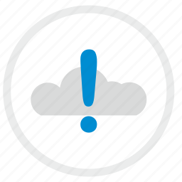 attention, cloud, error, technology, warning icon