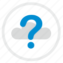 cloud, quest, question, technology, ui icon