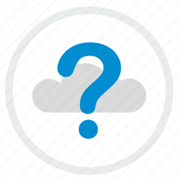 cloud, quest, question, technology, ui icon