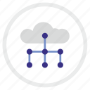 cloud, plan, scheme, structure, technology, web icon