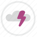 cloud, electric, error, shock, warning icon