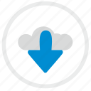 cloud, download, file, server, storage icon