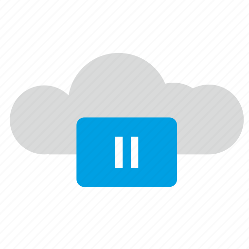 cloud, function, pause, technology, ui icon