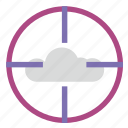 aim, choice, cloud, target, technology icon