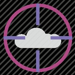 aim, choice, cloud, target, technology icon