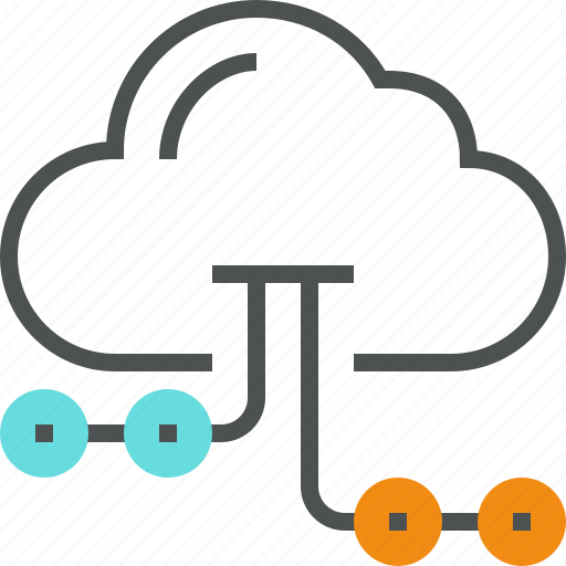 cloud, computing, connection, database, information, network, server, transfer icon
