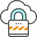 cloud, computing, lock, network, protection, security, server icon