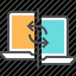 data, exchange, network, sharing, sync, synchronization, transfer icon