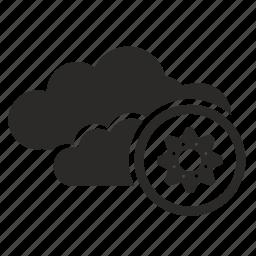api, cloud, settings, technology icon