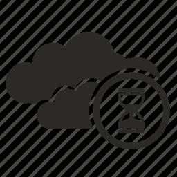 api, clock, cloud, technology, time icon