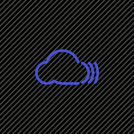 cloud, platform, share, sound, storage icon
